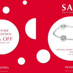 Pandora: Winter Sale Further Markdown with Up to 50% OFF + Additional 10% OFF Selected Sale Items