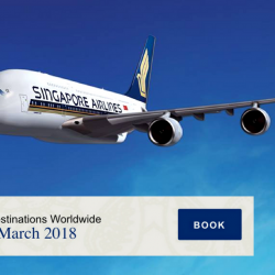 Singapore Airlines: Early Bird Fares to over 55 Destinations from S$158
