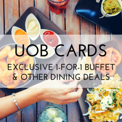 UOB Cards - Exclusive 1-for-1 Buffet & Other Dining Deals (Jan 2018)
