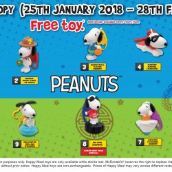 McDonald's: FREE Snoopy Toy with Every Happy Meal Purchased
