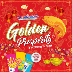 [Long John Silver's] The festive season is nearly here, so keep a lookout for exciting promotions in the spirit of prosperity, only at