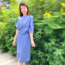 [Butterflies & Marigolds] This dress incorporates 2 of my trend favourites for Spring 2018 -  COLOUR (little boy BLUE) which according to colour experts