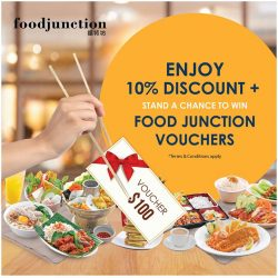 [Junction 8] From now until 31st Jan 2018, simply LIKE and SHARE Food Junction Facebook page to enjoy a 10% discount while