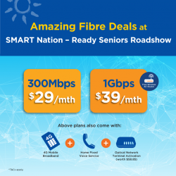 [M1] Get amazing Fibre Broadband offers at the 'SMART Nation – Ready Seniors' roadshow on 20 Jan (12pm – 4pm).