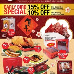 [Kay Lee Roast Meat Joint] Those who have missed our early bird promotion of 15% discount for our CNY items not to worry, because you