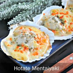[THE SEAFOOD MARKET PLACE BY SONG FISH] Hotate Mentaiyaki (Baked Scallops with Cheddar Cheese & Fish Roe)Make your own baked scallops with cheese and fish roe (ebiko).