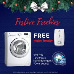 [Electrolux] Give your home a festive makeover with big discounts and freebies on Electrolux appliances!