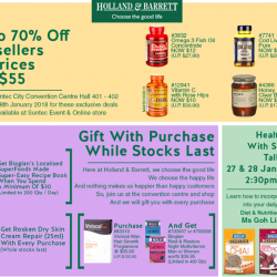 [Holland & Barrett Singapore] Crazy Deals @ Qoo10 event this Thurs (25th) to Sunday (28th).