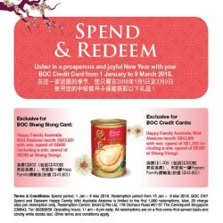 [BANK OF CHINA] Turn your shopping sprees into abundance treats with your BOC Cards.