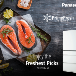 [Panasonic] Fish out only the freshest from your Panasonic NR-F610GT's PrimeFresh Freezer compartment.