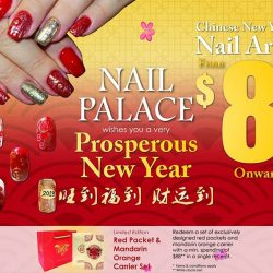 [Sun Plaza] Prep up for the Lunar New Year with Nail Art at Nail Palace from $8 onward.