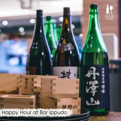 [Ippudo Express] HAPPY HOUR AT BAR IPPUDOHave you checked out our sake bar at Mohamed Sultan, Tanjong Pagar Centre & Shaw Centre?