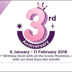 [10 10 Mother & Child Essentials] To celebrate our 3rd Anniversary, we've got promos-galore until the 11th February 2018!