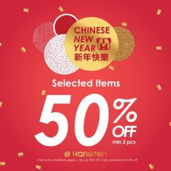 [Hang Ten] Make your CNY shopping merrier with up to 50% off selected items in-stores.