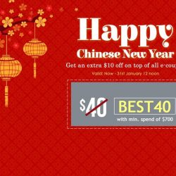 [Best Denki] Celebrate this Chinese New Year with additional +$10 Add-on to our existing $40, $60 & $90 E-coupons!