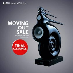 [B&W Bowers & Wilkins] Last chance to grab your favorite sound system at our Moving Out Sale!