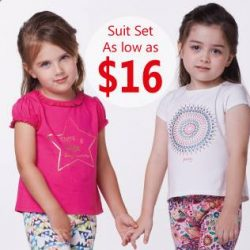 [PONEY enfants] Special deal: $16 for girl suit set (2 pieces in 1).