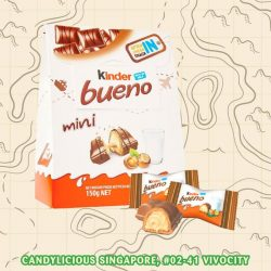 [Candylicious] Kinder Beuno Mini is the same delicious layer of crispy wafer, milk chocolate and hazelnut milking filling of Kinder Beuno.