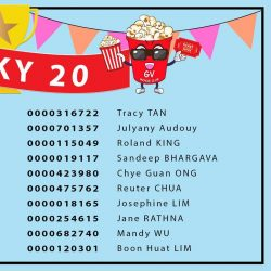 [Golden Village] Time to make your own luck and be like these 20 lucky GV Movie Club® members!
