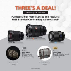 [Sony Singapore] For camera lenses, three is never a crowd.