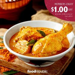 [Golden Village] Spend less and eat well with this awesome $1 OFF promo exclusive to GV Movie Club® members at Food Republic