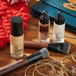 [The Body Shop Singapore] Get your makeup look on with our cruelty-free makeup range - Fresh Nude Foundation and shade adjusting drops to get