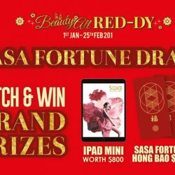 [Sasa Singapore] Sasa Fortune Draw is here till 25 Feb!