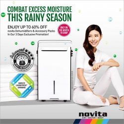 [Novita] Combat excess moisture this rainy season with novita dehumidifiers!