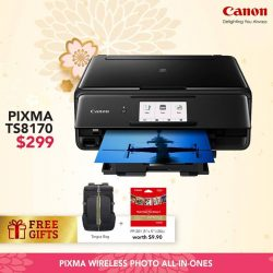 [Harvey Norman] Ring in the Year of the Dog with some paw-some deals on Canon printers at HarveyNormanSG!