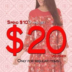 [MOONRIVER] CNY Promotion - Get $20 Voucher when you shop at all our outlets for regular items.