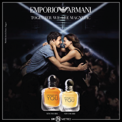 [Metro] Introducing Emporio Armani's YOU, the duo fragrances that balance and empower each other.