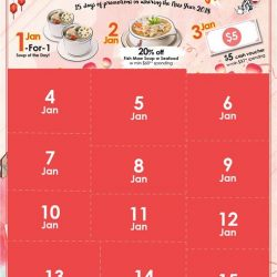 [Dian Xiao Er] On the first Wednesday of 2018, simply spend over $50++ and receive $5 cash voucher!