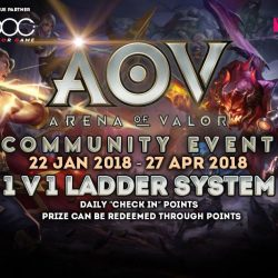 [TOG] AOV COMMUNITY EVENT (LADDER SYSTEM) Date: 22nd January 2018 to 27th April 2018 (Every week Monday to friday) Venue: TOG -