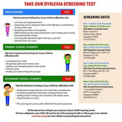 [Dyslexia Association of Singapore] Registration for the 2018 Dyslexia Screening Tests is open!