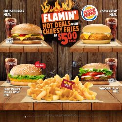 [Burger King Singapore] BK Flamin' Hot Deals are even HOTTER with Cheesy Fries!