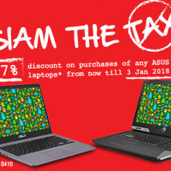 [ASUS] 1 more day left to enjoy 7% discount on selected ASUS laptops*!