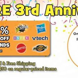 [Babies'R'Us] Our online store is celebrating it's 3rd year and we have great deals for you!
