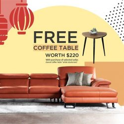[Cellini] Refresh your space in time for the family gathering - get a FREE Dansk coffee table worth $220 with purchase of