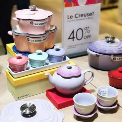 [Tangs] Le Creuset range of cookware retains all the cooking benefits of cast iron, is easy to clean, pretty and doesn'