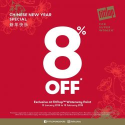 [FitFlop] EXCLUSIVE - To usher in the Year of the Dog, enjoy 8% OFF on all regular-priced styles at FitFlop™ Waterway