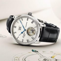 [Serenity Spanish Restaurant] The namesake for this watch is Alfred Helwig, the former head of the watchmaking school in Glashütte and the