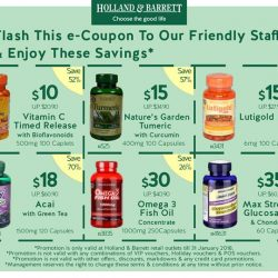 [Holland & Barrett Singapore] From now till the end of January, save money & boost your immunity!