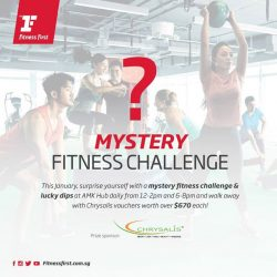 [Fitness First] MYSTERY CHALLENGE: This January, nail those resolutions and chisel out the new you with a mystery fitness challenge at Fitness