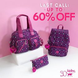 [Kipling] Just a couple of days till 7th Jan 2018 for you to enjoy these awesome discounts - 15% OFF regular-priced