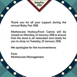 [Mothercare] Thank you for all the love and support for the MothercareBabyFair2018.