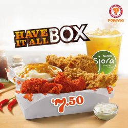 [Popeyes Louisiana Kitchen Singapore] The perfect meal for those who just can't make up their minds or want a little of everything is