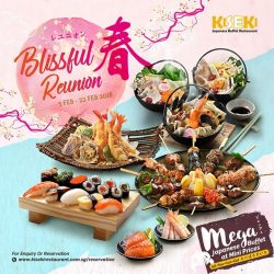 [Kiseki Japanese Buffet Restaurant] From 5 February to 22 February 2018, celebrate Chinese New Year with a twist by indulging in our Japanese-style