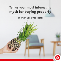 [OCBC ATM] Some people think rolling a pineapple into your new house will result in good fortune rolling in.