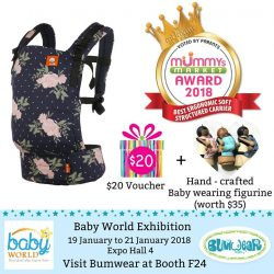 [Bumwear] We are so pleased to announce that Tula FTG won the Mummy's Market award for Best Soft Structured Carrier