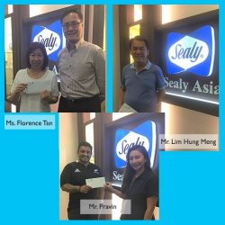 [Sealy Singapore] Congratulations to:1) Pravin 2) Florence Tan 3) Lim Hung Mengon winning a 2-night staycation at JW Marriott